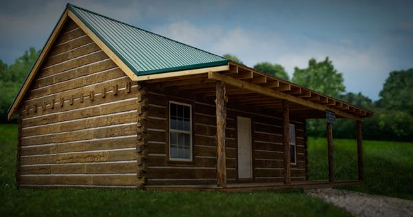 Cabin Covered With Concrete Log Siding Made In Corbin Ky