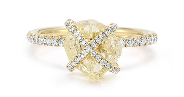 "To the Diamond in the Rough natural rough diamond ring from ""Embrace"""