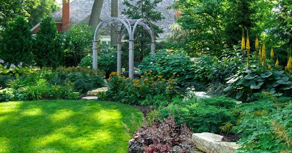 How To Landscape A Suburban Back Yard How To Plant Flowers Garden Outdoor Design Pinterest