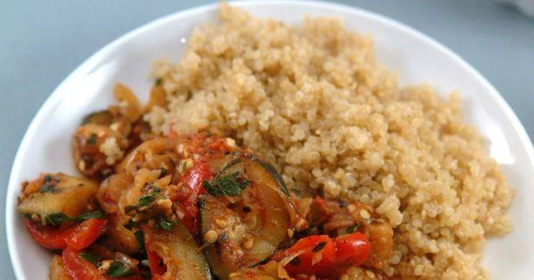 Sauteed Ratatouille with Quinoa - Delish Healthy Vegan Main Dish ...
