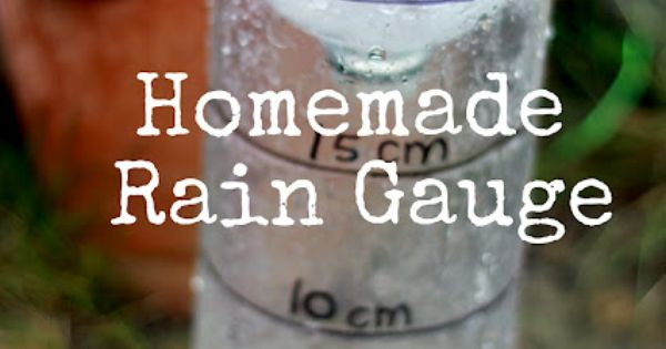 Measure the rainfall with a DIY rain gauge!