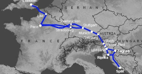 How To Train From London To Zagreb Mostar Bosnia Train Map Croatia