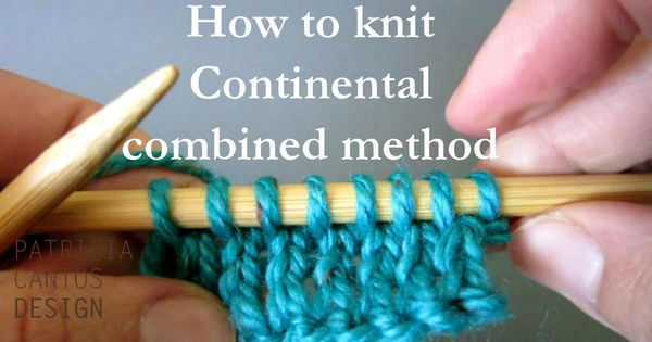 Knitting Yarn Over Continental Style : How to knit continental combined knitting method video