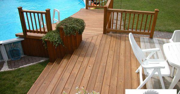 Patio avec piscine hors terre patio pinterest patio - Piscine hors sol tole ...
