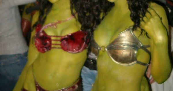 American actresses Cyia Batten & Crystal Allen as Orion slave girls on ...