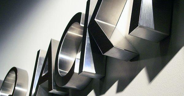 Stainless Steel Signs Metal Signage Wayfinding Signage Logo Sign