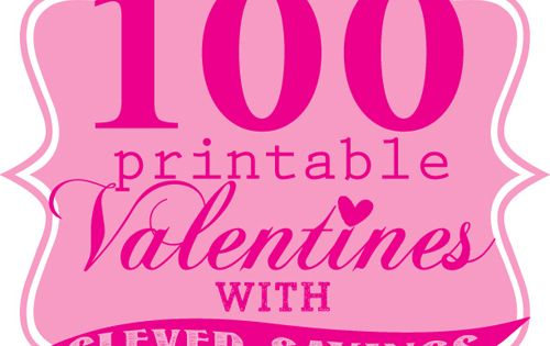 Printable Valentines with Cute Sayings - Skip To My Lou ...
