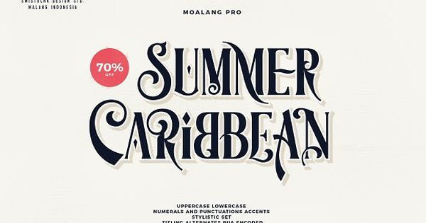 Moalang Pro – vintage display font with unique glyph combination to create fresh look