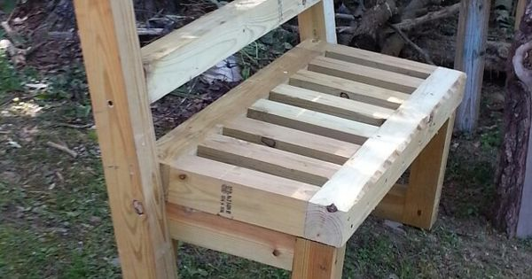 4x4 garden bench | Benches | Pinterest | Bench, Pallets ...