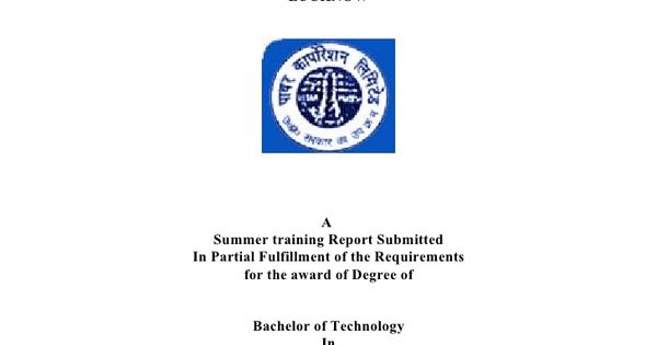 A SUMMER TRAINING REPORT ON UTTAR PRADESH POWER CORPORATION - training report