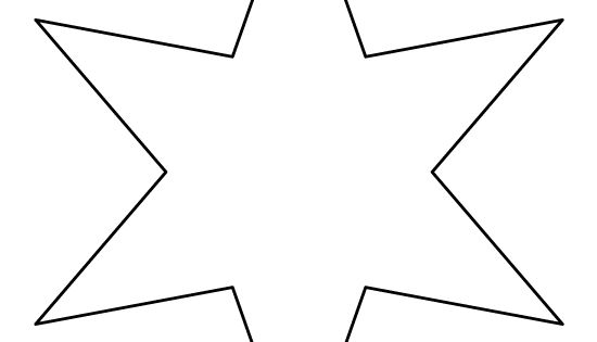 Six-pointed Star Pattern. Use The Printable Outline For
