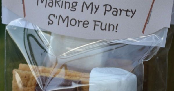 Camping Party Favors Boys Party Ideas Smore Fun