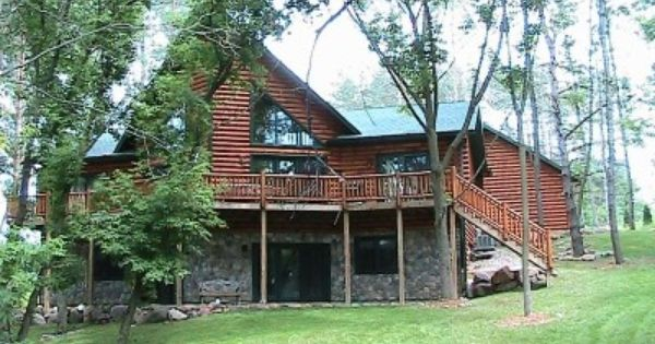 Front Of Log Home Cabin Vacation Cabin Vacation Rental