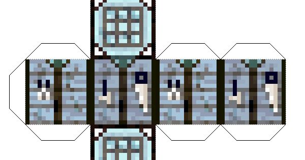 Papercraft All The Eternal Frost Block The Eternal Frost Mod Crafting Table Minecraft Minecraft Printables Minecraft Crafts