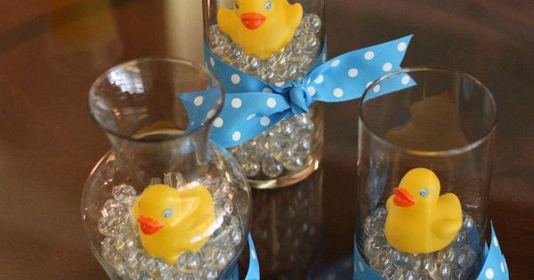 Rubber Ducky boy Baby Shower Centerpieces