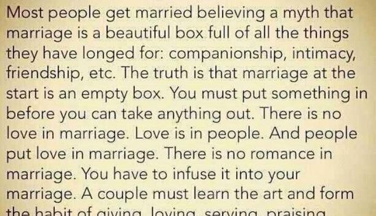 """""""The Marriage Box"""" by Bible Says Ministries. Wonderful quote. Just flat-out great"""