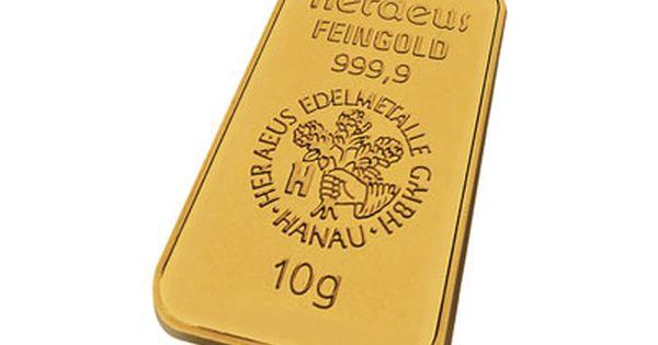 Heraeus 10 Gram Gold Bar Gold Bullion Bars Gold Bullion Coins Gold Bullion