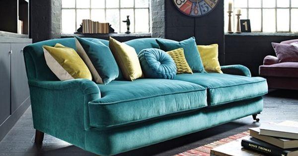 Peacock Sofa With Gray Walls Jillian Medford Marwell Teal Living Rooms Teal Living Room Decor Sofa Colors