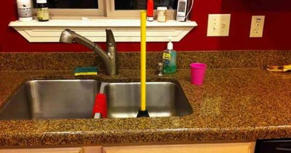 Clogged Sink If You Are Having Issues With Your Sink Properly Draining Or If There Are Problems With The Garbage D Sink Kitchen Sink Kitchen Sink Clogged