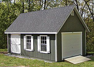 Kloter Farms T 1 11 Elite Cape Garage Duratemp Siding 14 X 20 Carriage Style Garage Doors Farm Shed Garage Door Design