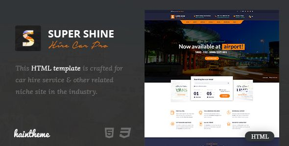 Nice Supershine  Car Or Truck Rental Html Template Retail