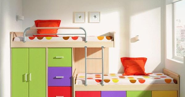 Cool space saving bunk bed for children ideas for kids for Cool space saving ideas