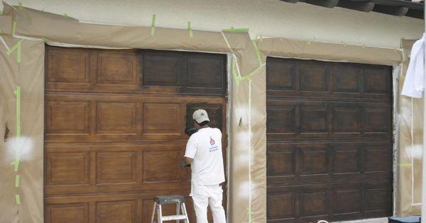 """""""Faux wood"""" painted Garage Doors"""