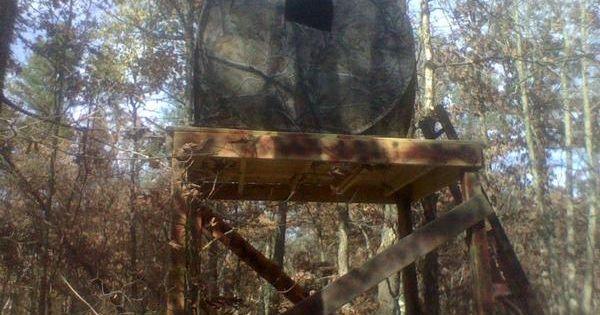 Jpeg elevated deer shack elevated hexagon deer blind make for Build your own deer stand