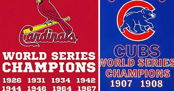 Cards Vs Cubs St Louis Cardinals Pinterest
