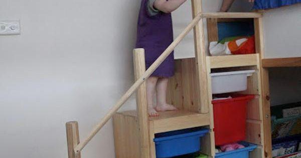 10 id es originales pour utiliser les trofast d 39 ikea chambre de le cha - Meuble escalier ikea ...
