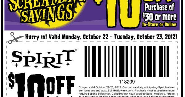 spirit halloween coupon canada