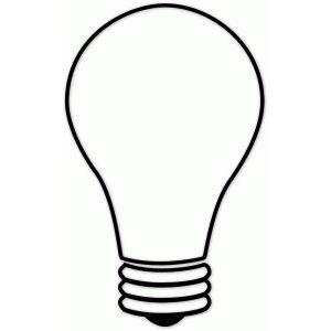Silhouette Design Store Outlined Lightbulb Silhouette Design Light Bulb Drawing Vintage Edison Lamp
