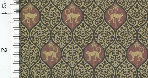 Dollhouse Wallpaper Monkey Designed For The 1 12 Scale Miniature Setting This Listing Is For 1 Sheet Of 11 5 H X Dollhouse Accessories Wallpaper Doll House