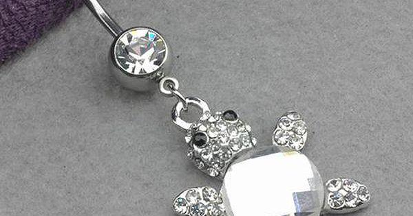 Turtle Navel Ring. Soooo cute!