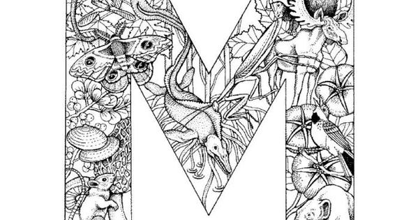 Detailed Alphabet Coloring Pages : Detailed alphabet coloring page these are cool