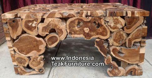 Teak Root Wood Furniture From Bali Coffe Table Outdoor Wood Table Organic Furniture Outdoor Deco