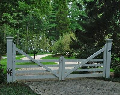 Four Rail Farm Gate Entrance Gates Wood Gates And More