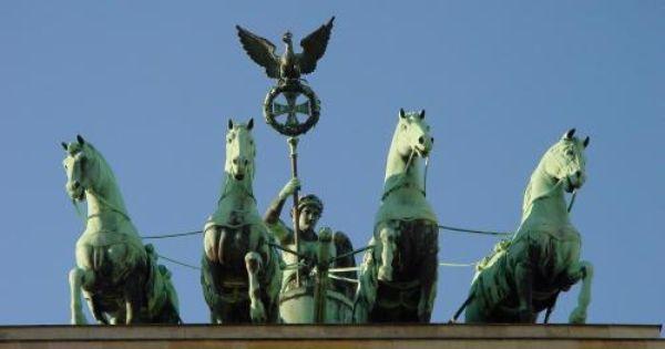Quadriga On Top Of Brandenburger Tor Berlin On The Way To The Spreewald Germany Brandenburg Gate Berlin