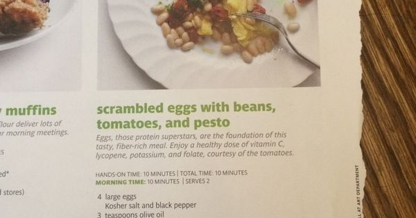 Scrambled eggs, Real simple and Beans on Pinterest