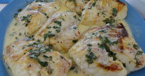 Grilled Grouper with Creamy Lemon Sauce