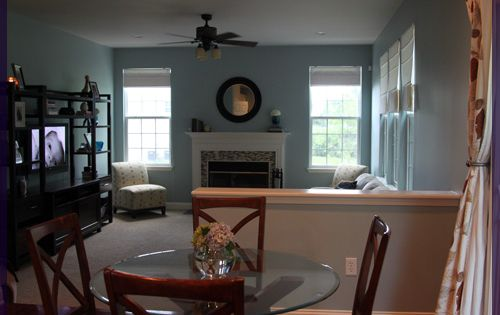 Wedgewood gray benjamin moore hc 146 for the home - Benjamin moore wedgewood gray living room ...