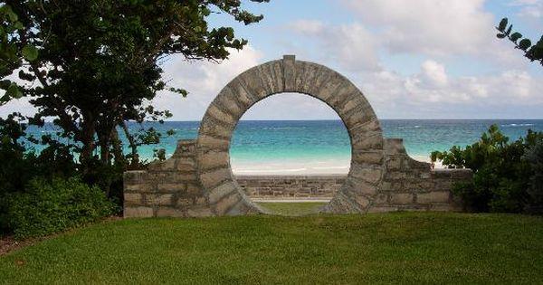 Bermuda Lucky Stone : Moon gate grape bay beach hotel bermuda good luck for