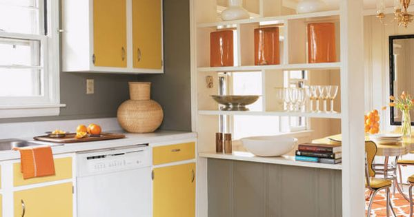 How to refinish kitchen cabinets elle decor refinished for Elle decor kitchen ideas