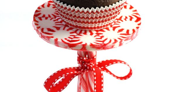 #DIY: Tutorial for making a Peppermint Cupcake Stand on Pizzazzerie.com! Also, other