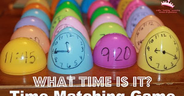 Plastic egg time matching game - What Time Is It? - A