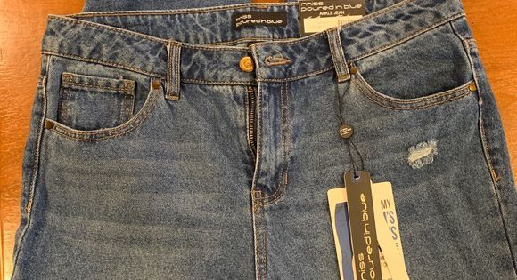 Miss Poured In Blue Distressed Jeans Size 10 Nwt Distressed Jeans Jeans Size Jeans