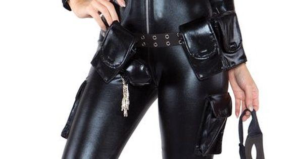 Sexy thief black catsuit costume | Cat Burglar Couture ...