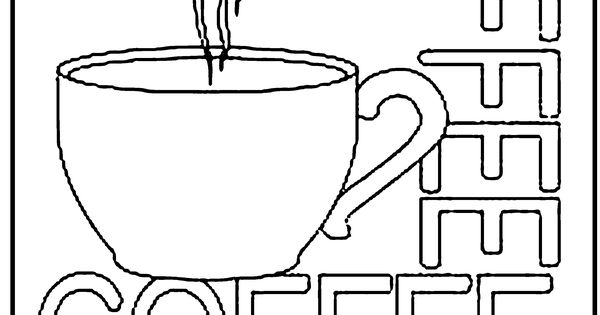 Free Coloring Page Coffee Cup | Kids Activities ...