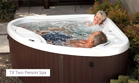 Tx Two Person Corner Hot Tub With Images Hot Tub Landscaping