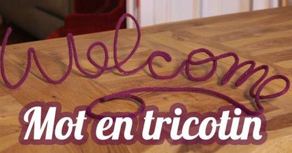crivez le mot ou le pr nom de votre choix en tricotin. Black Bedroom Furniture Sets. Home Design Ideas
